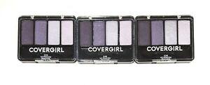 3 CoverGirl Eyeenhancers Eyeshadow Quad #230 ICE PRINCESS New Sealed