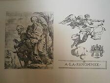 Planche gravure Sébastien Bourdon La fuite en Egypte- A la renommée massepain