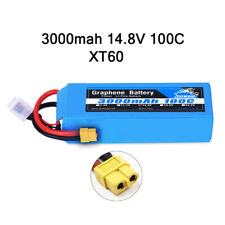Yowoo Graphene 3000mAh 14.8V 4S Lipo Battery 100C for Airplane Helicopter Truck