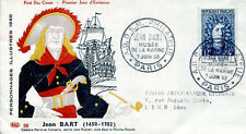 FRANCE FDC - 259a 1167 2 JEAN BART PARIS 7 6 1958