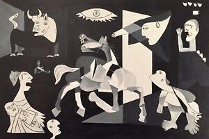 Interpretation Of Guernica Acrylic Painting By Neil Gaffney