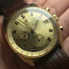 Omega Seamaster 1970s Chronograph Gold Plated Date Automatic Cal.1040 Overhauled