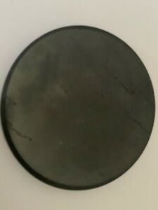 Polished Shungite Tile Coaster Phone Stand. Protection from EMF Geopathic Stress
