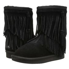 NWOB Koolaburra by UGG Cable Fringe Suede Shearling Boot Sz 6