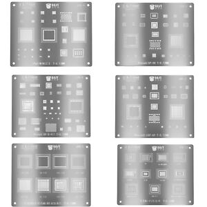 IC Chip BGA Reballing Stencil Kits Solder Template for iPhone iPad A8/A9/A10/A11