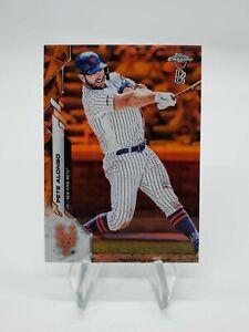 2020 Topps Chrome Ben Baller Pete Alonso Orange Refractor Parallel 12/25 NY Mets