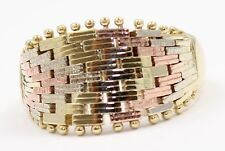 14k Two-Toned Ring Mesh Ladies Ring