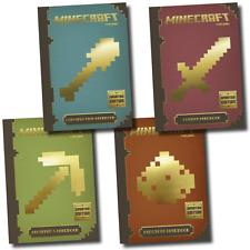 Minecraft 4 Books Collection Set Combat, Construction, Beginner's & Redstone