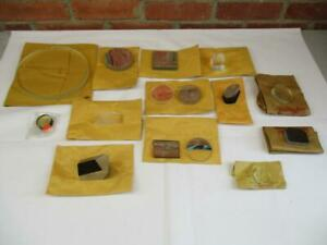 Lot of 15 Vintage Telescope Lens Mirrors and Prisons
