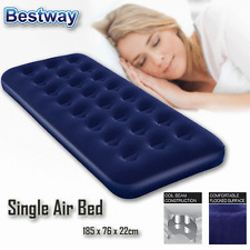 Bestway Comfort Quest Inflatable Camping Premium Flocked Air Bed Mattress Single