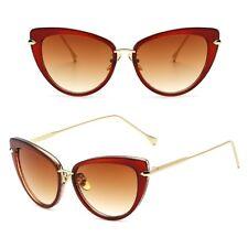Retro VINTAGE Square Cat Eye Large Aviator Fashion Gold Metal Women Sunglasses