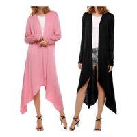 Women's Cardigan Coat Long Sleeve Solid Slim Open Front Casual Jacket Sweater