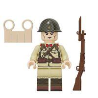 Custom LEGO WW2 Japanese Army Soldier Weapons Minifigure Military Mini-figure