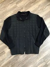 Paul & Shark Yachting Zip up Sweater Jacket Coat Sz L Quilted Elbow Pads READ*