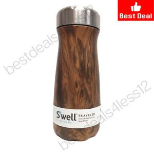 S'well Teakwood Traveler Insulated Stainless Steel 16 oz / 470 ml