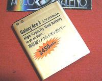 BATTERIA 2450MAH PER SAMSUNG GALAXY ACE STYLE SM-G310HN POTENZIATA MAGGIORATA