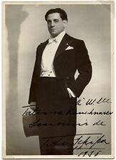 Operatic Tenor Tito Schipa Signed Photo
