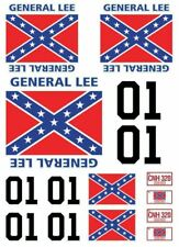 RC General Lee stickers decals 1/18