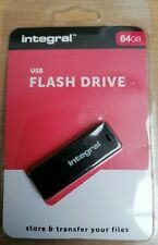 64Gb USB 2.0 - Integral BLACK - New in Retail Blister Pack