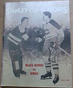 1974 Chicago Blackhawks vs. Los Angeles Kings Stanley Cup Playoffs Program 73-74