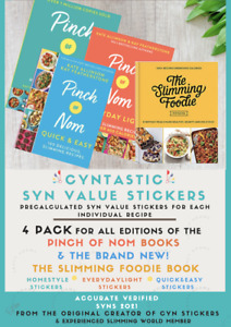 🔥SALE🔥Slimming World Syn STICKERS for 3 Pinch Of Nom + Slimming Foodie Books