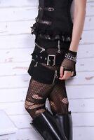 Gothic Goth Burlesque Steampunk Rock Punk Rave Black Mini Skirt