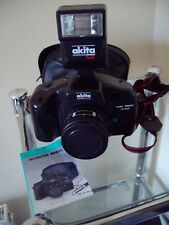 Akita AT-R2000F 35mm Plastic camera and Flash With Case & Manual - Bargain!
