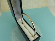 9ct Rose Gold Slave Bangle Solid Court Shape 4mm width, 12.8 grams