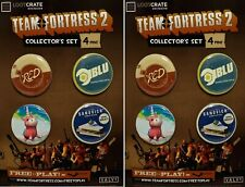 BFF Team Fortress 2 Sandvich Red Blu Balloonicorn 8 Collector pins 2 sets of 4
