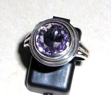 Amethyst Ring mit Schliff massiv Gr 57 / 18,1 mm 925 Sterling Silber Neu
