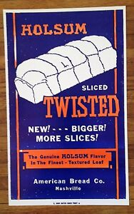 Hatch Show Print Holsum Twisted Bread Vintage Kitchen Art