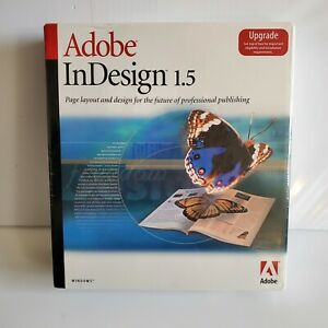 Adobe InDesign 1.5 - For Windows - UPGRADE - Brand New, SEALED