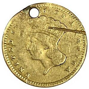 1856 United States $1.00 Gold - Type 3 - Cull