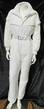 Vtg 90s NILS Women's White Thinsulate Ski Snowsuit Jumpsuit USA fits S 4 6 (10)
