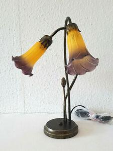 Stilarts Tiffany Stand Tisch Lampe Tischlampe Tischleuchte Jugendstil 43x30cm