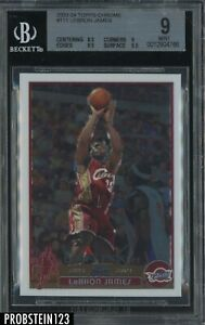 2003-04 Topps Chrome #111 LeBron James Cavaliers RC Rookie BGS 9 w/ (2) 9.5's