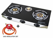 Ps-3 Gas Stove 70cm Cooker 3 Burners Portable Hob Indoor Cooktop LPG 8.8kw