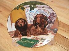 Danbury Mint DACHSHUND DOXIE Come Here Puppy Dog Plate