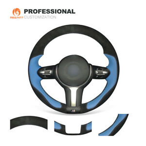Suede Leather Steering Wheel Cover for BMW F22 F30 F32 F07 F12 M3 M4 M5 M6 X3