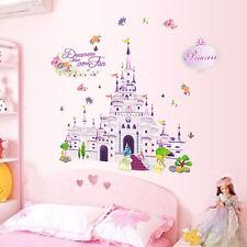 Princess Castle Kids Girls Bed Room Wall Decal Sticker Nursery Art Home Decor SN