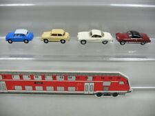 AB113-0,5# 4x Wiking H0 PKW-Modelle: Karmann + Wartburg (?), NEUW