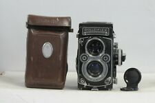 Rolleiflex 3.5F Xenotar Cross Coupled TLR Film Camera with Cap, Case & Meter