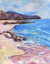 BEACH Original Art PAINTING Artist DAN BYL Contemporary Impressionism Large 5 ft