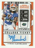 2020 Panini Contenders RC AUTO Tyrie Cleveland College Ticket Denver Broncos
