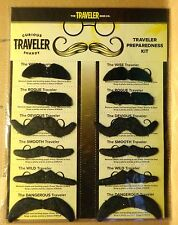 Samuel Adams Curious Traveler - Page of 12 Mustaches - Fake Mustache - Very Cool