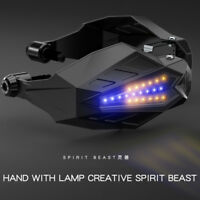 SPIRIT BEAST Motorcycle Handguard Handlbar Grip Protection Hand Guard LED Light