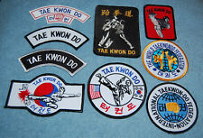 Various Tae Kwon Do Embroidered Patches, New