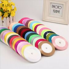 25 Yards Satin Ribbon Wedding Craft Sewing Decorations Decor Sewing DIY Hair Bow