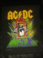 "Ac-Dc Acdc ""Heat Seeker"" 1989 vintage Backpatch NEW Angus Young Heavy Metal"
