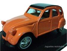 1/36 GUISVAL CITROEN 2CV NARANJA MADE IN SPAIN miniatura coche metal DIECAST